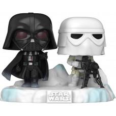 Головотряс Star Wars: 40th The Empire Strikes Back - POP! Deluxe - Battle at Echo Base: Darth Vader & Snowtrooper (Exc) (15 см)