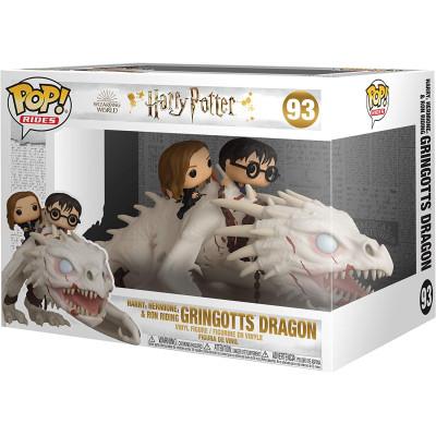 Фигурка Funko Harry Potter - POP! Rides - Harry, Hermione & Ron Riding Gringotts Dragon 50815 (15 см)
