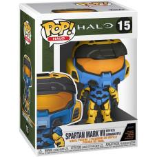 Фигурка Halo: Infinite - POP! - Games - Spartan Mark VII with VK78 Commando Rifle (Blue & Yellow) (9.5 см)
