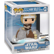 Головотряс Star Wars: 40th The Empire Strikes Back - POP! Deluxe - Battle at Echo Base: Han Solo with Tauntaun (Exc) (18 см)