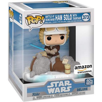 Фигурка Funko Головотряс Star Wars: 40th The Empire Strikes Back - POP! Deluxe - Battle at Echo Base: Han Solo with Tauntaun (Exc) 49756 (18 см)