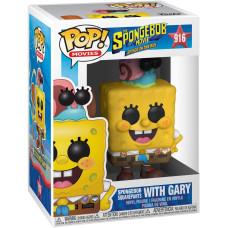 Фигурка SpongeBob Movie: Sponge on the Run - POP! Movie - Spongebob Squarepants with Gary (9.5 см)