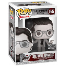 Фигурка Stephen King - POP! Icons - Stephen King with Red Balloon (Black & White) (Exc) (9.5 см)