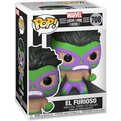 Фигурка Funko Головотряс Lucha Libre - POP! - El Furioso (Marvel Edition) 53870 (9.5 см)