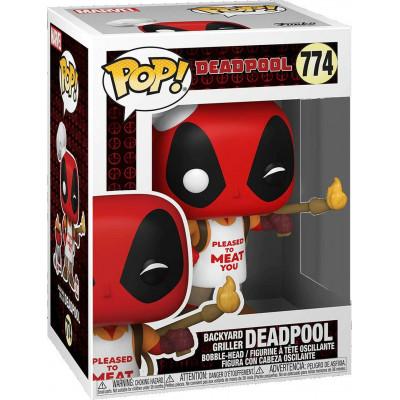 Фигурка Funko Головотряс Deadpool 30th Anniversary - POP! - Backyard Griller Deadpool 54652 (9.5 см)