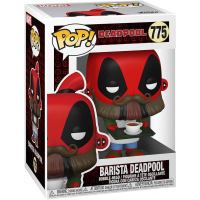 Фигурка Funko Головотряс Deadpool 30th Anniversary - POP! - Barista Deadpool 54653 (9.5 см)