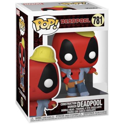 Фигурка Funko Головотряс Deadpool 30th Anniversary - POP! - Construction Worker Deadpool (Exc) 54688 (9.5 см)