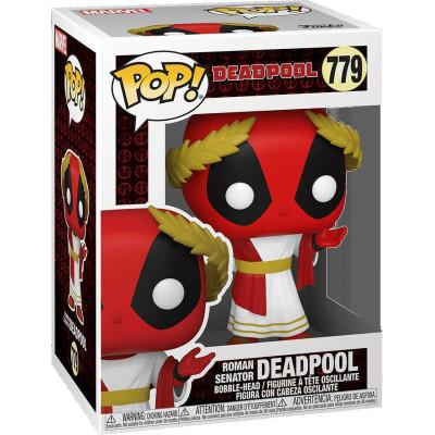 Фигурка Funko Головотряс Deadpool 30th Anniversary - POP! - Roman Senator Deadpool 54657 (9.5 см)