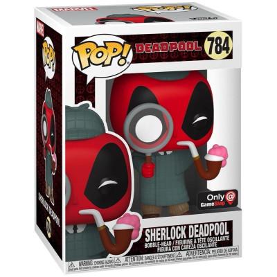 Фигурка Funko Головотряс Deadpool 30th Anniversary - POP! - Sherlock Deadpool (Exc) 54691 (9.5 см)