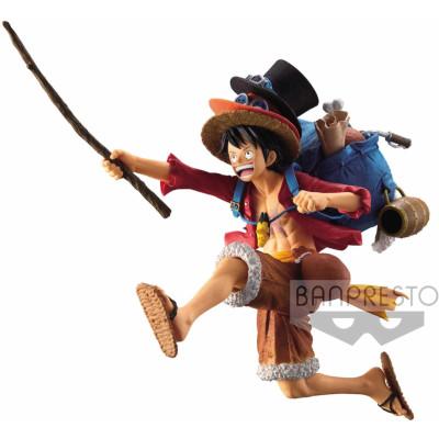 Фигурка Banpresto One Piece - Mania Produce - Three Brothers: Monkey D Luffy BP16139P (14 см)