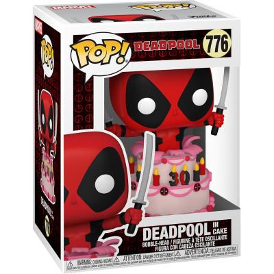 Фигурка Funko Головотряс Deadpool 30th Anniversary - POP! - Deadpool in Cake 54654 (9.5 см)