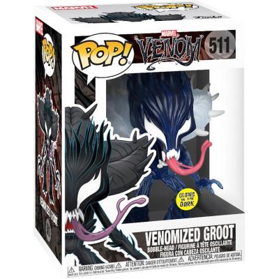 Фигурка Funko Головотряс Venom - POP! - Venomized Groot (Glows in the Dark) (Exc) 47614 (9.5 см)