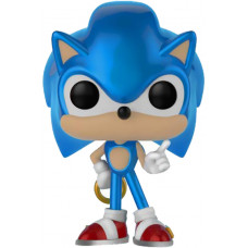 Фигурка Sonic the Hedgehog - POP! Games - Sonic with Ring (Metallic) (Exc) (9.5 см)