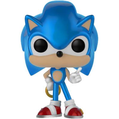 Фигурка Funko Sonic the Hedgehog - POP! Games - Sonic with Ring (Metallic) (Exc) 33221 (9.5 см)