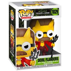 Фигурка The Simpsons: Treehouse of Horror - POP! TV - Devil Flanders (Glows in the Dark) (Exc) (9.5 см)