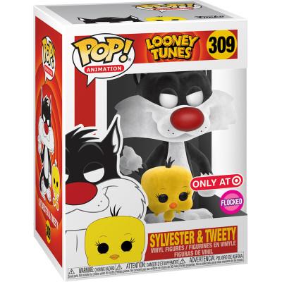 Фигурка Funko Looney Tunes - POP! Animation - Sylvester & Tweety (Flocked) (Exc) 46978 (9.5 см)