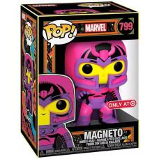 Головотряс Marvel - POP! - Magneto (Black Light) (Exc) (9.5 см)