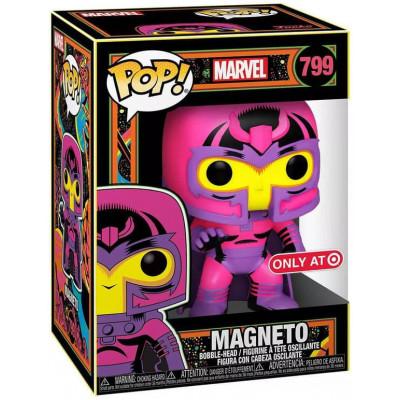 Фигурка Funko Головотряс Marvel Comics - POP! - Magneto (Black Light) (Exc) 55627 (9.5 см)