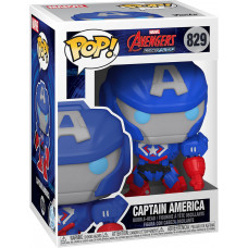 Головотряс Avengers Mech Strike - POP! - Captain America (9.5 см)