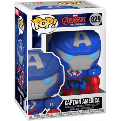Фигурка Funko Головотряс Avengers Mech Strike - POP! - Captain America 55233 (9.5 см)