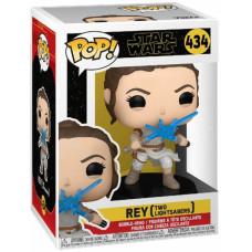 Головотряс Star Wars Episode IX The Rise of Skywalker - POP! - Rey (Two Lightsabers) (9.5 см)