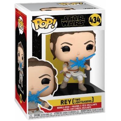 Фигурка Funko Головотряс Star Wars Episode IX The Rise of Skywalker - POP! - Rey (Two Lightsabers) 51484 (9.5 см)
