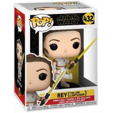 Головотряс Star Wars Episode IX The Rise of Skywalker - POP! - Rey (Yellow Lightsabers) (9.5 см)