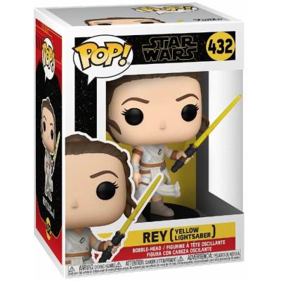 Фигурка Funko Головотряс Star Wars Episode IX The Rise of Skywalker - POP! - Rey (Yellow Lightsabers) 51482 (9.5 см)