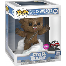 Головотряс Star Wars: 40th The Empire Strikes Back - POP! Deluxe - Battle at Echo Base: Chewbacca (Flocked) (Exc) (15 см)