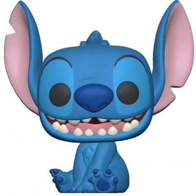 Фигурка Funko Lilo & Stitch - POP! - Smiling Stitch Seated (Flocked) 56325 (9.5 см)