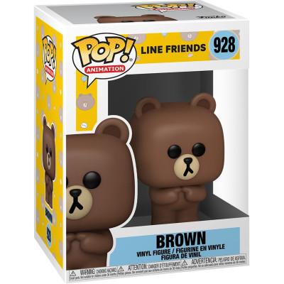 Фигурка Funko Line Friends - POP! Animation - Brown 48151 (9.5 см)