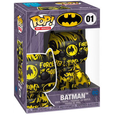 Фигурка Funko Batman - POP! Art Series - Batman (Black/Yellow) (Exc) 51837 (9.5 см)