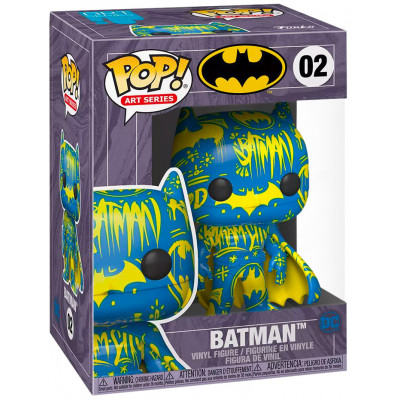 Фигурка Funko Batman - POP! Art Series - Batman (Blue/Yellow) (Exc) 51838 (9.5 см)