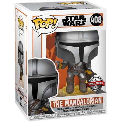 Фигурка Funko Головотряс Star Wars: The Mandalorian - POP! - The Mandalorian (Flying Mando) 51405 (9.5 см)