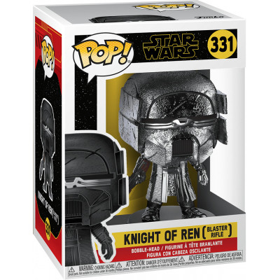 Фигурка Funko Головотряс Star Wars Episode IX The Rise of Skywalker - POP! - Knight of Ren (Blaster Rifle) (Hematite Chrome) 47241 (9.5 см)