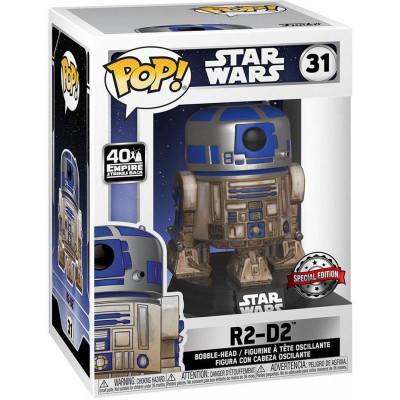 Фигурка Funko Головотряс Star Wars: 40th The Empire Strikes Back - POP! - R2-D2 (Dagobah) (Exc) 49810 (9.5 см)