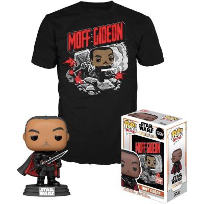 Набор Funko Star Wars: The Mandalorian - POP! Tees - Moff Gideon (фигурка / футболка)