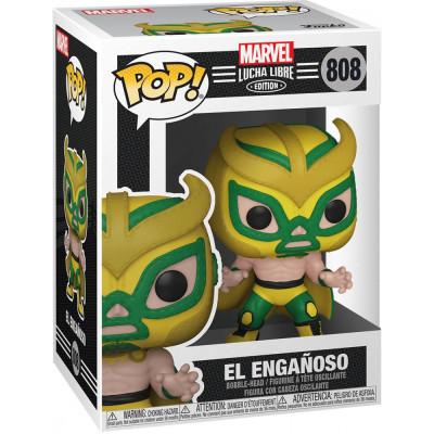 Фигурка Funko Головотряс Lucha Libre - POP! - El Enganoso (Marvel Edition) (Exc) 53948 (9.5 см)