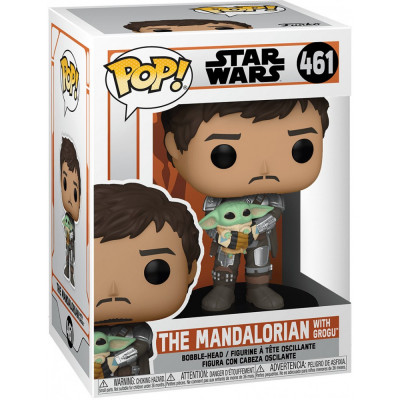 Фигурка Funko Головотряс Star Wars: The Mandalorian - POP! - The Mandalorian with Grogu 54525 (9.5 см)
