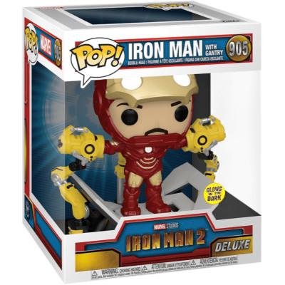 Фигурка Funko Головотряс Iron Man 2 - POP! Delux - Iron Man Mark with Gantry (Metallic) (Glows in the Dark) (Exc) 56772 (10.5 см)