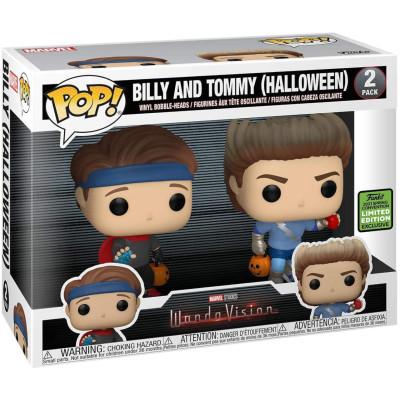 Набор фигурок Funko Набор головотрясов WandaVision - POP! - Billy & Tommy (Halloween) (Exc) 54315 (9.5 см)