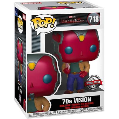 Фигурка Funko Головотряс WandaVision POP! - Vision 70s (Exc) 52047 (9.5 см)