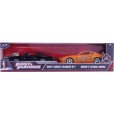 Набор моделей автомашин Fast & Furious -  Dom's Dodge Charger R/T & Brian's Toyota Supra (1:32)