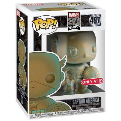 Фигурка Funko Головотряс Marvel 80 Years - POP! - Captain America (Patina) (Exc) 42218 (9.5 см)