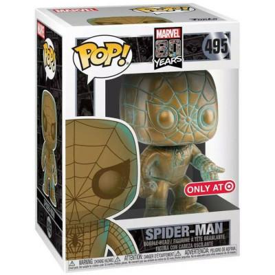 Фигурка Funko Головотряс Marvel 80 Years - POP! - Iron Man (Patina) (Exc) 42223 (9.5 см)