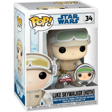 Головотряс Star Wars - POP! - Luke Skywalker (Hoth) (with Pin) (9.5 см)