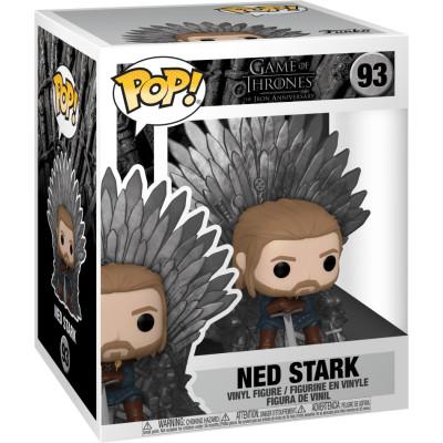 Фигурка Funko Game of Thrones: The Iron Anniversary - POP! Deluxe - Ned Stark on Throne 56791 (15 см)