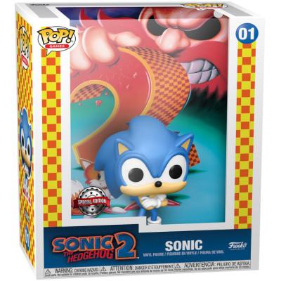 Фигурка Funko Sonic the Hedgehog 2 - POP! Game - Sonic (Cover Box Game) (Exc) 59177 (9.5 см)