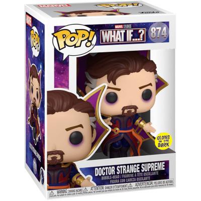 Фигурка Funko Головотряс What If…? - POP! - Doctor Strange Supreme (Glows in the Dark) (Exc) 56277 (9.5 см)