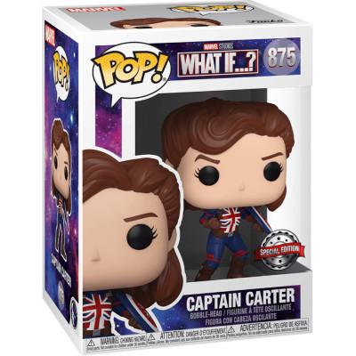 Фигурка Funko Головотряс What If…? - POP! - Captain Carter (Exc) 55967 (9.5 см)